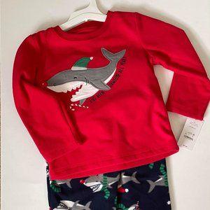 NWT- Carter's Shark Pajama Set